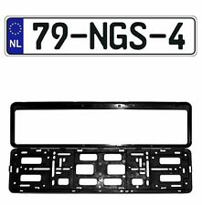 New Netherlands EEC European Front License Plate (Random) & Mounting Frame