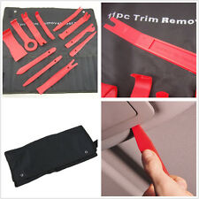 11 Pcs Red Plastic Car Auto Interior Door Panel Pry Open Tool Audio Removal Kit