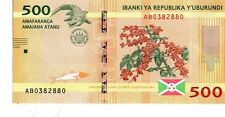 BURUNDI 2015 500 FRANCS CURRENCY UNC