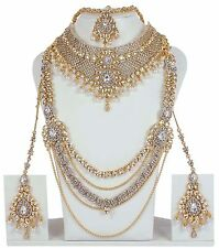 3121 Designer Bollywood Gold Plated Jewelry Indian Kundan Bridal Necklace Set