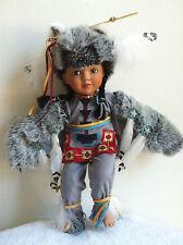 Ashton Drake Little Grey Wolf Indian Porcelain Doll Celebrate Children By Belle