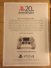 Sony Playstation 20th Anniversary A1 Poster - EGX 2015 Exclusive - Brand New
