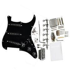 Electric Guitar Complete Prewired Pickguard Black Tuners Knob Bridge For Fender