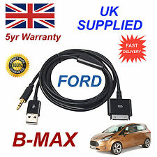 FORD BMAX 1529487 3GS 4 4s iPhone iPod USB & Aux Cable black