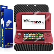 ArmorSuit Nintendo 3DS XL (2015) Screen Protector + Black Carbon Fiber Skin