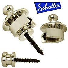 NEW - Genuine Schaller 445 Nickel Strap Lock System.  AP-0681-001