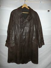 zg5 WWII German Leather Overcoat Size 38 Length 45
