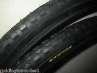 2 x Kenda 26 x 1 3/8 Bike / Cycle Road Tyres KT07 with kenda Schrader tubes