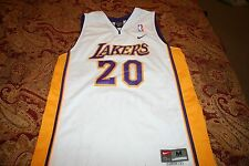 LOS ANGELES LAKERS GARY PAYTON #20 NIKE JERSEY YOUTH BOYS MED 10-12 Stiched