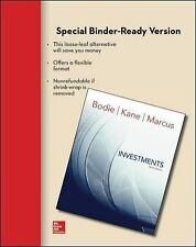 Loose Leaf for Investments by Zvi Bodie, Alan Marcus and Alex Kane (2013,...
