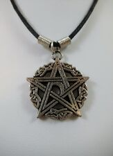 """Magick Pentacle Pendant 18"""" Cord Rockabilly Witchcraft Wiccan Pagan Mystical"""
