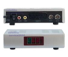 Modulador RF UHF 21-69 Entradas Audio Y Video SCART VHF Convertidor Modulator