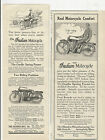 """(MOTORCYCLE AD) (2) INDIAN MOTORCYCLE 1913 3"""" x 8"""""""