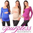 New Basic MATERNITY Long Sleeve Top Pregnancy Blouse Size 8 10 12 14 16 18 8041
