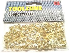 200PC BRASS EYELET SET 8MM DIAMETER / 4MM INNER Hole Makers Leather Craft PL231