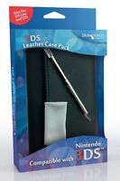 Nintendo 3DS DS Lite DSi Black Leather Case with Stylus & Cleaning Cloth New
