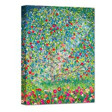"Large 16x12"" GUSTAV KLIMT APPLE TREE IN BLOSSOM FRAMED CANVAS PICTURE WALL ART"