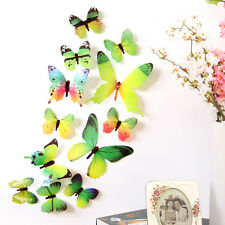 New Arrival 3D DIY Wall Sticker Stickers Butterfly Home Decor Room Decorations