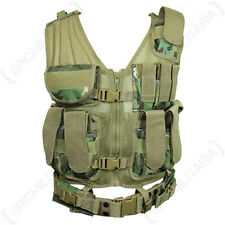 Arid Woodland TACTICAL VEST Combat Assault Airsoft Army Camouflage MOLLE Rig Top