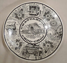 ASSIETTE DECORATIVE CERAMIQUE -CHATTANOOGA CHOO-CHOO -MADE IN USA