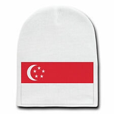 Singapore World Country National Flag Beanie Skull Cap Hat Winter Stocking New
