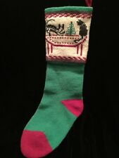 Vintage Wool Christmas Stocking Dog Cat Tree Vermont