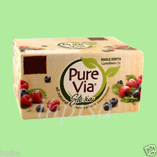 PURE VIA STEVIA 1000 PACKETS NATURAL SWEETENER ZERO CALORIE PUREVIA PUREVIA