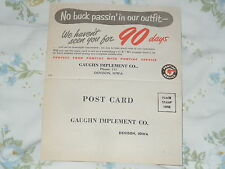 Pontiac Fold Over Customer Service Post Card - No buck passin in our outfit