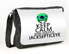 JACKSEPTICEYE MESSENGER / REPORTER BAG KEEP CALM & WATCH JACKSEPTICEYE