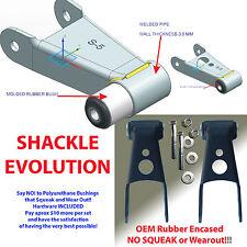 "1988-2015 Chevrolet Silverado GMC Sierra Bushing 1""2"" Lowering Shackles Hardware"