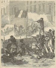 A3966 Colpo di Stato del 2 Dicembre 1852 in Francia - Incisione Antica del 1889