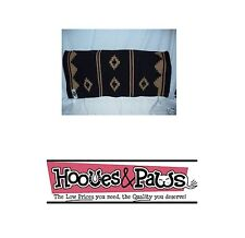 MAYATEX 36X34 Oversize SHOW SADDLE BLANKET PAD APACHE BLACK AND SAND HORSE TACK