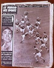 Miroir des Sports 31/3/1958; Sensation à Cardif, le XV de France/ Basilio-Robins