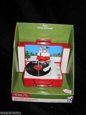 PEANUTS GANG~SNOOPY~RECORD PLAYER ORNAMENT~MUSIC~LIGHTS~LINUS & LUCY~NIB