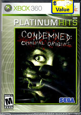 Condemned: Criminal Origins Game For Xbox 360 NEW Sealed