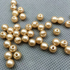 100PCS light coffee ABS 6mm Pearl spacer beads Craft/wedding Decoration DIY