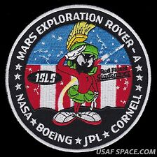 "AUTHENTIC MARS EXPLORATION ROVER-A -MARVIN THE MARTIAN- NASA JPL BOEING 5"" PATCH"