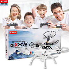Blanc Syma X8W WIFI Real Time FPV RC Quadcopter Drone w/ 2.0MP Caméra 6-Axis RTF