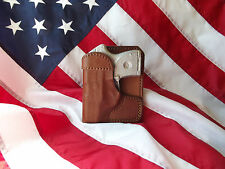 J&J CUSTOM FIT SMITH & WESSON S&W M&P SHIELD WALLET STYLE LEATHER POCKET HOLSTER