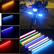 1pc Waterproof Auto Car Headlight Day Night Driving COB LED Light Bar 17cm 12V