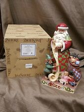 Jim Shore Heartwood Creek Santa 2 sided CHECKING IT TWICE 4027709