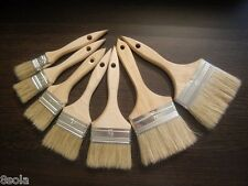 Profesional Paint Brush Set of 8 Natural paint Bristle with wooden Beech handle