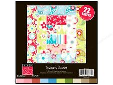 Bazzill Basics Paper BBP Divinely Sweet Double-Sided Scrapbooking Paper, NEW