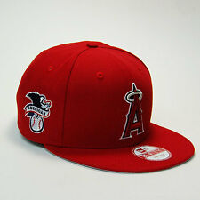 "New Era Anaheim Angels ""American League"" Snapback Hat!! RED/WHITE/GOLD!!"