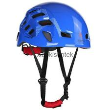 Rock Climbing Caving Rescue Safety Helmet Hard Hat Head Protector Blue