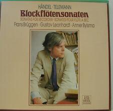 HÄNDEL TELEMANN BLOCKFLÖTENSONATEN BRÜGGEN LEONHARDT BYLSMA 2-LP BOX (d703)