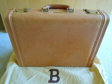 Authentic BALLY Italian Tan Leather Briefcase Attache Case Travel Bag Portfolio