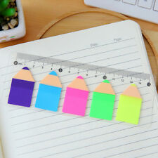 Straightedge Ruler with Mini Memo Pad Paper Sticky Notes Office School Supplies
