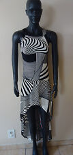 Go Couture Low and High Black/White Sleeveless Dress Size S NWT
