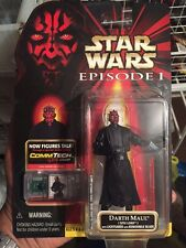 Star Wars Darth Maul Figure lightsaber w removable blade CommTech Chip 3 3/4 EP1